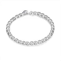 mexican bracelets UK - Fancy New Arrival Design Silver Plated Copper Metal Round Box Hand Chain Bracelet for Girls Free Shipping