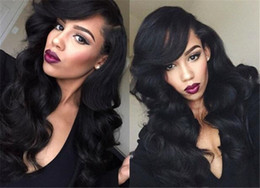 $enCountryForm.capitalKeyWord NZ - Body Wave Silk Base Full Lace Wig Brazlian Non-remy Hair Natural Color Side Part Human Hair Wig With Baby Hair Black Women