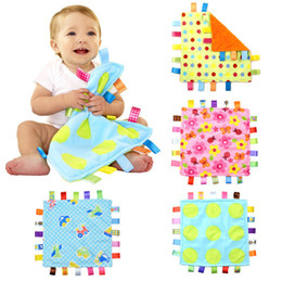 Barato Toalha De Bebê-30 * 30cm Baby Emotion Pacify Blanket Cartoon Toalha de bebê colorida Swaddle Wrap Blanket Toweling Baby Infant Blanket