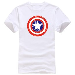 T-shirts Superman Pour Hommes Pas Cher-Comic LOGO Super Hero coton T Shirt Superman Captain America le Flash Marvel Film Hommes Cosplay T-Shirts superhéros tops Tee