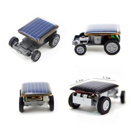 Small Child Toy Car NZ - New Strange Black Creative Smallest Mini Solar Powered Car Model Solar Toys Kit Gadgets Educational Baby Kids Toys for Children