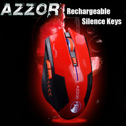 $enCountryForm.capitalKeyWord Canada - Wholesale- AZZOR Rechargeable Wireless Illuminate Computer Mouse Mice Laser Gaming 2400 DPI 2.4G FPS Gamer Silence Lithium Battery Build-in