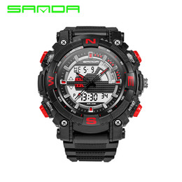 $enCountryForm.capitalKeyWord Australia - 2017 New Fashion Sanda Brand King Style Digital Outdoor Sports Watch Waterproof Anti-Shock Luxury Led Digital Military Watch