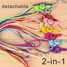 lanyards rope keychain UK - cell phone sling Detachable Lanyard Finger Ring for Cell Phone Neck Fashion Universal Hanging Rope mobile phone demountable ID card keychain
