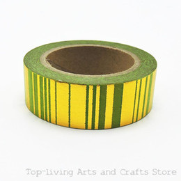 $enCountryForm.capitalKeyWord Australia - Wholesale- 2016 (1pc Sell) Green Foil Washi Tape Set Japanese Stationery Scrapbooking Decorative Tapes Adhesive Tape Kawai Adesiva Decorat