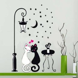 sticker wall boy room Australia - Wall Sticker Cat Kids Boy Bedroom Children Wallpaper Home Decoration Art Room Hallway Mural PVC Decorative Girl