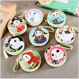 $enCountryForm.capitalKeyWord NZ - Tinplate Women Cute Cartoon Cat Mini Bag Coin Purse kids Girls Wallet Earphone Box Bag Wedding Gift Christmas Gift