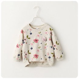 Barato Traje Do Vintage Das Meninas-Venda por atacado - 2016 New KIDS Boy Girls Sweater Vintage Baby Girls obrigado Jumper Spring Autumn KIDS Costume, casaco infantil