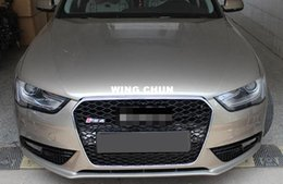 $enCountryForm.capitalKeyWord NZ - ABS Chrome mesh Grille Front Chrome Frame Mesh Sport Grill Grille Fit For Audi A4 B9 RS4 Style 2013-2015