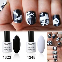 Classic nail designs suppliers best classic nail designs wholesale elite99 7ml french black white gel polish for halloween nail art design soak off uv led classic nail polish gel lacquer set prinsesfo Images