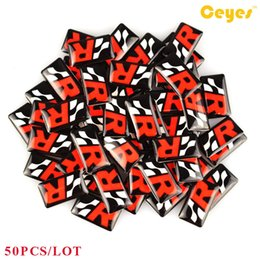 ibiza sticker Canada - Car Styling Plastic Drop Stickers for Seat R leon ibiza altea alhambra Badge Epoxy car label logo Car Stickers 50PCS LOT