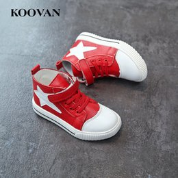 Barato Korean Girls Shoes Venda-Hot Sale Classic High Upper Shoe Kids Children Casual Shoes 2017 Primavera coreana Autumn Boy Girl Boots Base suave de alta qualidade K376