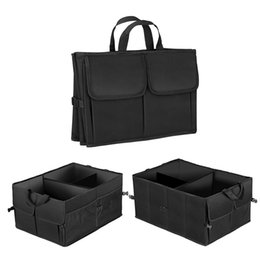 used boots 2019 - Car Auto Waterproof Foldable Black Car Boot Organizer Storage Bag Protable Auto Storage Box Multi-use Tools Organizer di