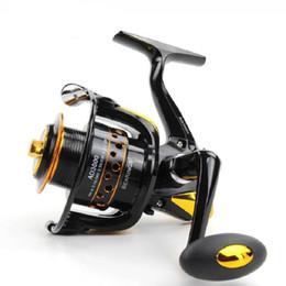 Discount wheel gold - Wholesale New AD Series 12+1BB 5.5:1 Metal Spinning Fishing Reel Peche Fishing Wheel Spinning Reel Fishing Free Shipping