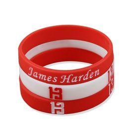 China James Harden Signature Bracelets Basketball Star Sports Bracelet Silicone Wrist Strap Red White Gym Fitness Elastic Bracelets supplier wholesale jelly suppliers