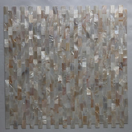 Water Tablets UK - [FREE SHIPPING] 10x20mm natural color mother of pearl shell mosaic , seamless tile, mesh backer, fresh water shell tile ( MS060)
