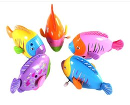 fish toy wind up 2019 - Fish Wind Up Toys Clockwork Toy Baby Kid Running Spring Water Toy Children Newborn Baby Mini Pet Animal YH992 cheap fish