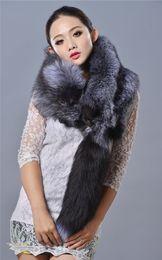 $enCountryForm.capitalKeyWord NZ - Women Winter Scarf Real Fox Fur Scarf Natural Whole Skin Silver Fox Fur Poncho 2017 New Fashion Thick Warm Red Fox Fur Scarves