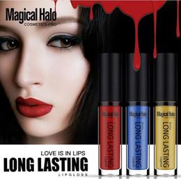 Discount magical halo lipstick - Waterproof lip gloss matte long lasting liquid lipgloss Magical Halo makeup liquide lipstick 38colors factory direct sup
