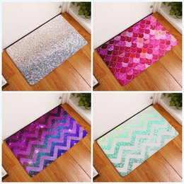 Shower mat online shopping - Shower Antiskid Pad D Printing Sequins Digital Bathroom Non Slip Mat Rubber Water Uptake Carpet Hot Sell xre J R