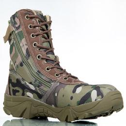 Vente en gros 2017 bottes tactiques camo hommes de sport de plein air armée hommes bottes de combat en cuir chaussures marines
