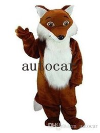 Wholesale fox mascots for sale – halloween Long haired fox mascot costumes real picture for adults christmas party Halloween Outfit Fancy Dress Suit