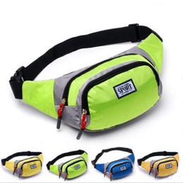 Wholesale Pillow Packs Australia - Unisex Waist Belt Zip Pouch Portable Multifunction Sport Runner Fanny Pack Belly Bum Bag Men Women Jogging Belt Solid Pouch Waist Bag