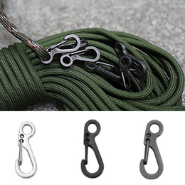 edc gear key 2019 - Fast Hook Carabiner Small Keychain Portable EDC Tools Outdoor Equipment Travel Gears Mini D-Shape Buckle Hanging B107Q