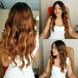 Discount bleached peruvian wavy hair - Full Lace Human Hair Wigs Ombre Two Tone 1B 30 Wavy Brazilian Virgin Hair 150 Density Natural Hairline Glueless Bleached