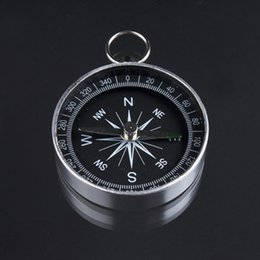 2018 aluminum travel Wholesale-Pocket Mini Camping Hiking Compasses Lightweight Aluminum Outdoor Travel Compass Navigation Wild Survival Tool