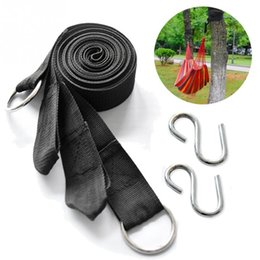 Secure hookS online shopping - set High Strength Nylon Camping Strap Belt Hammock Tree Straps Hanging Straps Rope with Secure Hook Loop Design Hooks
