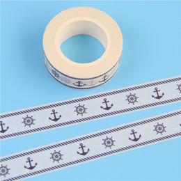$enCountryForm.capitalKeyWord Australia - Wholesale- 2016 1 Pc Rudder & Anchor Sailor Decor Patterned Diy Japanese Washi Tape Scrapbooking Decorative Masking Tape 15mm * 10m