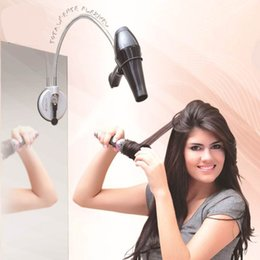 Handle For Hair Canada - Hair Dryer Stands hair dryer Holder for Hair Dryer Holder Wall Mounted Blower bracket stainless steel hair dryer sucker aircraft bathroom