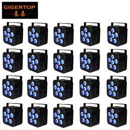 $enCountryForm.capitalKeyWord Canada - Black Color 20 Unit TP-B04 6x18W Led Par Light Full Color LED Screen Easy Menu Setting 8800MAH Battery DMX 2.4G Wireless Control Black Color