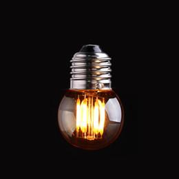$enCountryForm.capitalKeyWord Australia - Retro LED Filament Light Bulb 3W 2200K Gold Tint Glass Edison G40 Globe Style Decorative Household Lights Dimmable