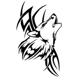 dcb756b6c 8.9*15CM 10 Colors Tattoo Wolf Car Motorcycle Body Animal Stickers Vinyl Car  Styling Waterproof Decal Accessories Jdm