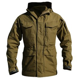 Sudadera Con Capucha Táctica Baratos-M65 Army Clothes Tactical jacket Cazadora de hombres chaqueta de bombardero Thermal Flight Pilot Coat Hombre Hoodie Military Field Jacket Coat
