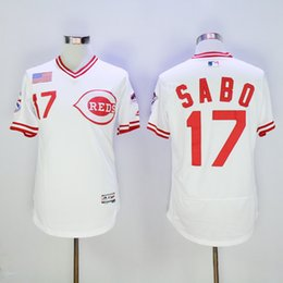 9bcdac43e cheap vintage 17 chris sabo jersey baseball cincinnati reds flexbase jerseys  pullover white grey 1990 cooperstown