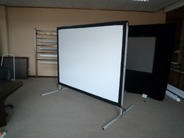 43 portable projector projection screen fast fold fastfold