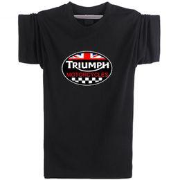 $enCountryForm.capitalKeyWord Australia - Triumph design T shirt Motorcycle badge short sleeve Rider team tees Leisure punk clothing Elastic cotton Tshirt