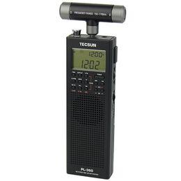 dsp radios 2019 - Wholesale-Portable TECSUN PL-360 DSP FM MW SW LW Radio + External AM Antenna + Outdoor Antenna discount dsp radios