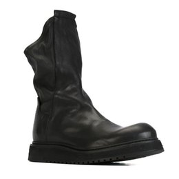 Male style boots online shopping - British Style Men Martin Booties High top Cow Leather Hlaf Boots Vintage Fashion Boot Male
