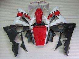 yamaha r6 fairings free gifts 2021 - Free 7 gifts fairing kit for Yamaha YZF R6 03 04 05 white red black fairings set YZF R6 2003 2004 2005 OT34