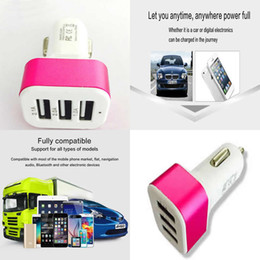 $enCountryForm.capitalKeyWord NZ - 2016 High Quanlity Car 3 Port USB Charger Portable Mini 5V Car Phone Charger for Iphone 6S Note 4 Samgsung Galaxy Universal Adapter