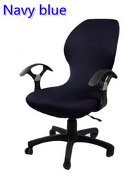 $enCountryForm.capitalKeyWord NZ - Navy Blue colour lycra computer chair cover fit for office chair with armrest spandex chair cover decoration wholesale