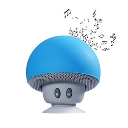 China Cute Cartoon small mushroom head Wireless Bluetooth Speaker suction cup portable Waterproof stereo Sound Box for Phone or PC suppliers