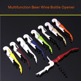 Discount pulltap corkscrew - High Quality Multifunction Waiter Wine Tool Bottle Opener Sea Horse Corkscrew Knife Pulltap Double Hinged Corkscrew
