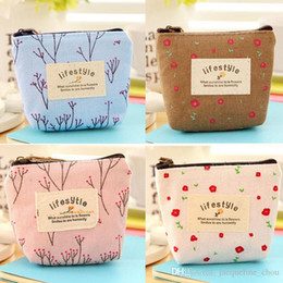 Barato Zíperes Zakka-Hot Sale Fashion printing zipper Keys Coin Purses Mulheres Small Wallet bolsa 10 * 8.5cm Mix Color Alta qualidade Frete grátis Zakka