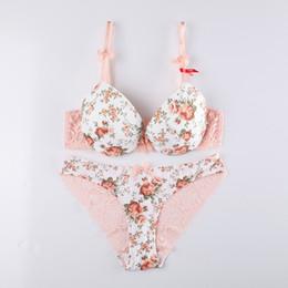 934ab1c79e new 2016 Young girl winter rose women s sexy push up bra set thick lace underwear  bra set
