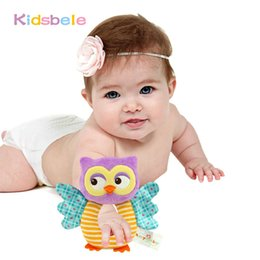 $enCountryForm.capitalKeyWord Canada - Wholesale- Kid Toys Soft Baby Rattle Tinkle Hand Bell Plush Stroller Cute Animal Butterfly Baby Toys 0-12 Months